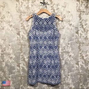 BB Dakota Blue & White Lace Dress